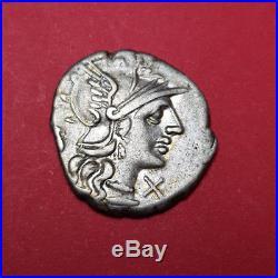 #1465 République Romaine Pompeia Denier 3,94 grs! Très bel exemplaire