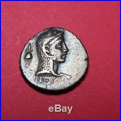 #1468 République Romaine Roscia Denier 3,67 grs! Trèsbel exemplaire