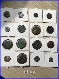 16 Monnaies Romaines Sesterces Deniers Antoniniens