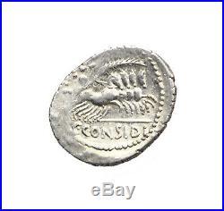 1729 Considia, C. Considius Paetus, Denier, 46 Avt. JC, SUP, Crawford 465/1
