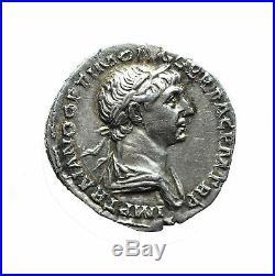 2372 Trajan (98-117), Denier frappé en 114-117, Revers Fortuna Redux, RIC 308
