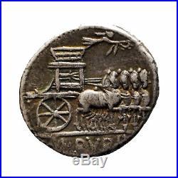 2420 Rubria, Denier, -87, Rome, Argent, Crawford 348/1