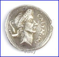 252-Rare denier de Jules César en argent