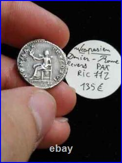 2534 Vespasien (69-79), Denier, Pax, Rome, Argent, TTB+, RIC 772