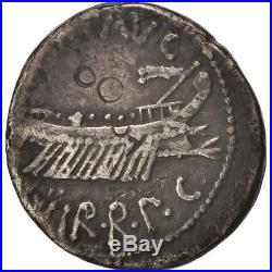 #415744 Marcus Antonius, Denier, 32-31 BC, TB+, Argent