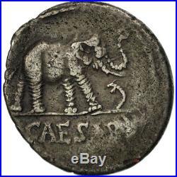 #481154 Julius Caesar, Denier, TB+, Argent, Crawford443/1