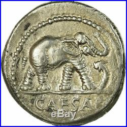 #485151 Monnaie, Jules César, Denier, TTB+, Argent, Crawford443/1
