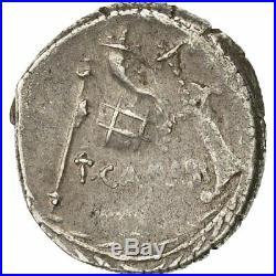 #491434 Monnaie, Carisia, Denier, 46 BC, Rome, TTB, Argent, Crawford 464/3b