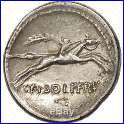 #505779 Calpurnia, Denier, Rome, TTB+, Argent, Crawford408/1a