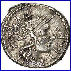 #506616 Fabia, Denier, Rome, TTB+, Argent, Variété inédite, Crawford273/1