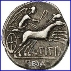 #507709 Titinia, Denier, Rome, TTB, Argent, Crawford226/1a