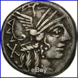 #511220 Monnaie, Plutia, Denier, Rome, TTB, Argent, Crawford278/1