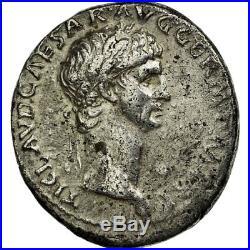 #512165 Monnaie, Claude, Denier, 41-42, Lyon Lugdunum, TTB, Argent, RIC16