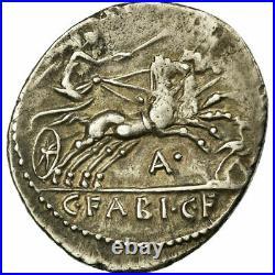 #64591 Monnaie, Fabia, Denier, Rome, TTB+, Argent, Babelon14