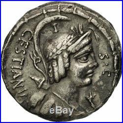 #650835 Monnaie, Plaetoria, Denier, 57 BC, Rome, TTB, Argent, Crawford409/1