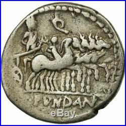 #654043 Monnaie, Fundania, Denier, Rome, TB+, Argent, Crawford326/1
