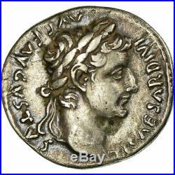 #657559 Monnaie, Tibère, Denier, Lyon Lugdunum, Fourrée, SUP+, Argent