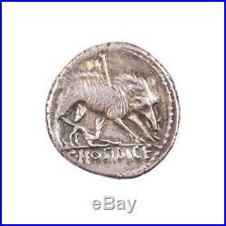 725 Hosidia, Denier, 68 avt. J. C, Rome, Argent, TTB+, Hosidia 1, Sear 346
