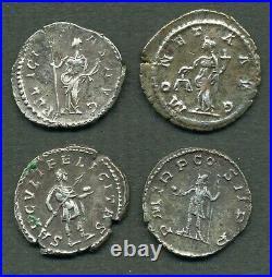 (826) LOT de 4 ANTONINIENS ou DENIERS de POSTUME (tous revers différents)