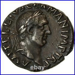 #890629 Monnaie, Vitellius, Denier, 69 AD, Rome, Pedigree, SUP, Argent, RIC83