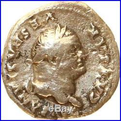 A2896 RARE Denier Vespasien Titus Flavius Sabinus Vespasianus Truie Argent F. O