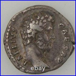 AELIUS, Denier, R/ CONCORD // TR POT COS III, TB+ Empire Romain AELIUS 136-138