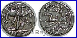 AEMILIA Denier P. HVPSAE// AED CVR// C HVPSAE COS PREIVE -58 ROME RCV. 379