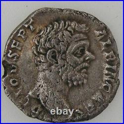 ALBINUS, Denier, R/ MINER PACIF COS II, TB+ Empire Romain ALBIN (193-196) Deni