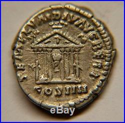 ANTONIN LE PIEUX 138-161 Denier Rev TEMPLUM DIV AVG REST COS IIII