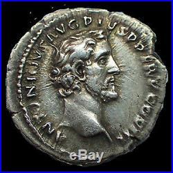 ANTONIN LE PIEUX ET MARC AURELE, ANTONINUS PIUS AND MARCUS AURELIUS, denier Rome