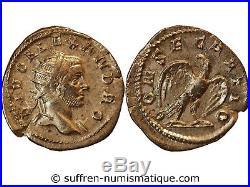 Alexandre Severe Denier Argent 250 / 251 Rome