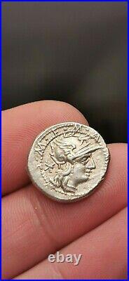 Assez rare et superbe denier argent d'Acilia, Rome 130 AC! 3,91 g