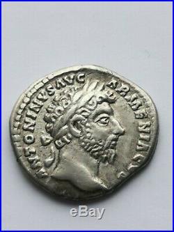 Assez rare et superbe denier de Marc-Aurèle, rome 165