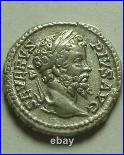 Authentique Ancien Romain Pièce Argent Septimius Severus Denier D'Argent Dea