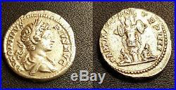 CARACALLA 198-217 Denier en argent. Son buste jeune lauré SUPERBE