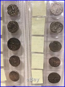 Collection de 18 deniers romains en argent monnaies impériales