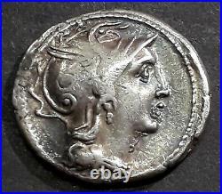 DENIER CLAUDIA (110-109 Avant J-C) La Victoire dans un bige au pas à droite
