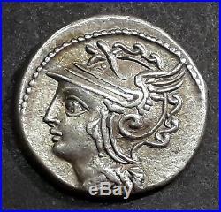 DENIER COELIA (104 Avant J-C) La Victoire dans un bige galopant à gauche