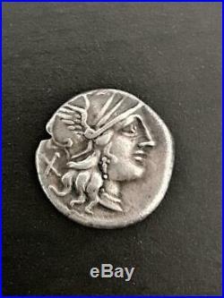 DENIER- C Plutius République romaine 121 avant JC très belle monnaie