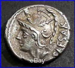 DENIER JULIA (103 Avant J-C) Vénus dans un chariot tiré par deux Cupidons