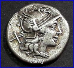 DENIER JUNIA (149 Avant J-C) Les Dioscures, Castor et Pollux à cheval