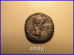 DENIER ROMAIN ARGENT AUGUSTE, CAIUS ET LUCIUS LYON 18mm, 3,65gr -2/12ac