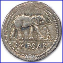 Denarius Julius Caesar 49BC Jules César Denier Elephant 49AC MS/SPL Splendide