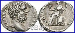 Denier 194 Romain Empire Clodius Albinus, 193 197, Roma #GAP142