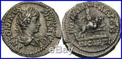 Denier 203 Romain Empire Caracalla, 197 217, Lion #KDW189