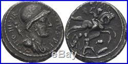 Denier 55-54 Romain République P. Fontéius Capito, Chevalier #Alb. 3038