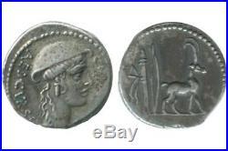 Denier Cn. Plancius république romaine 55 av JC
