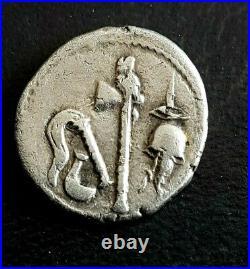 Denier De Jules Caesar A L Elephant