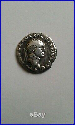 Denier De Vespasien Titus Et Domitien Au Revers Tres Bel Etat Rare Argent