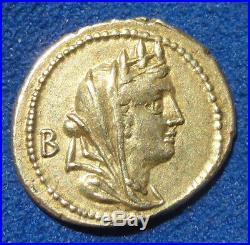 Denier FABIA 102 AV J. C. Exceptionnel argent Republique romaine